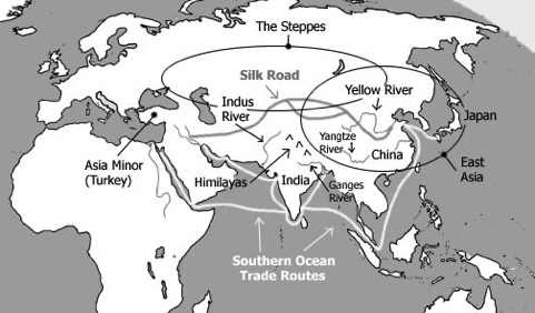 LOCATIONS: India, China, Japan, Asia Minor (Turkey), East Asia ... on japan on map, himalayas on map, lena river on map, kashmir on map, ganges river on map, himalayan mountains on map, yellow river on map, indian ocean on map, great indian desert on map, bangladesh on map, krishna river on map, yangzte river on map, deccan plateau on map, jordan river on map, persian gulf on map, aral sea on map, gulf of khambhat on map, irrawaddy river on map, gobi desert on map, eastern ghats on map,